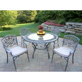 Mcgrady 5 Piece Dining Set with Cushions