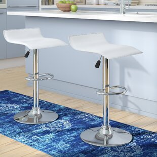 Winkler Adjustable Height Swivel Bar Stool (Set of 2)