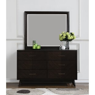 Metropole 6 Drawer Double Dresser With Mirror by Craft + Main