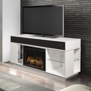 Sound Bar and Swing Doors TV Stand for TVs up to 60 with Fireplace