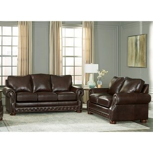 Pelaez 2 Piece Leather Living Room Set by Canora Grey