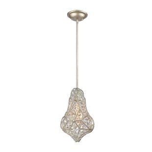Sacramento 1-Light Crystal Pendant by Wrought Studio
