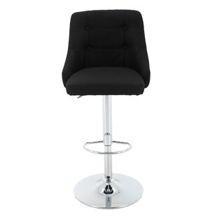 Aadvik Adjustable Height Swivel Bar Stool Orren Ellis