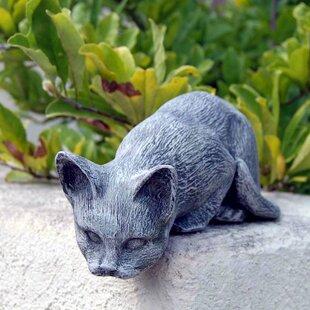 Ladybug Garden Decor Cat Statue