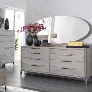 Anadarko 8 Drawer Double Dresser with Mirror
