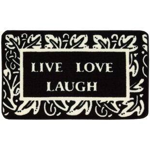 Affordable Price Poquonock Black/White Live, Laugh, Love Area Rug By Charlton Home