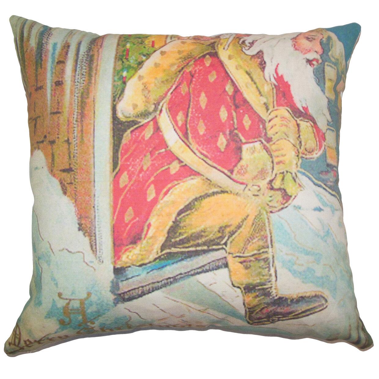 The Pillow Collection Holiday Vintage Santa Claus Natural Throw Pillow Wayfair