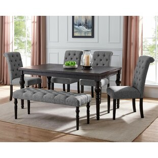 Evelin 6 Piece Dining Set by Charlton Home