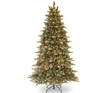 7.5' Spruce Artificial Christmas Tree with 600 Clear Lights