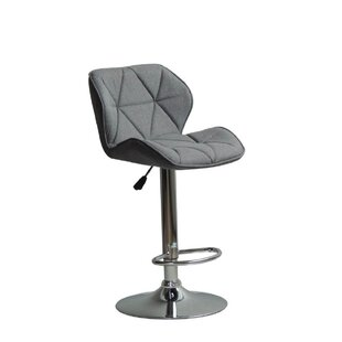 Graysen Adjustable Height Swivel Bar Stool Ivy Bronx
