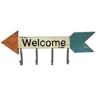 Welcome Metal Wall Hook by River Cottage Gardens