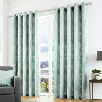 Vorhang-Set Brookhurst mit Ösen  blickdicht   Heimtextilien > Gardinen und Vorhänge > Vorhänge   Metallic - Silver   Polyester - Jacquard - Latex   Marlow Home Co.