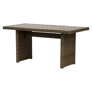 Stacia Aluminium And Rattan Dining Table By Sol 72 Outdoor