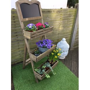 Three Tier Chalkboard Cedar Wooden Vertical Garden By Borough Wharf