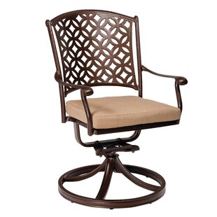 Casa Swivel Patio Dining Chair with Cushion