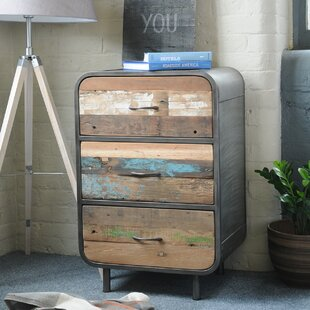 Chaunte Recycled 3 Drawer Chest By Williston Forge