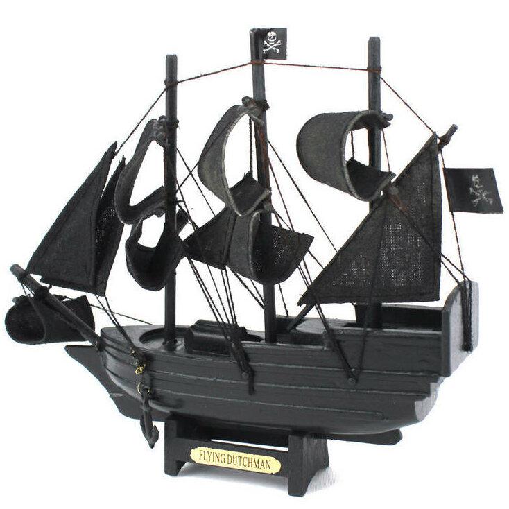 Breakwater Bay Leesburg Dutchman Model Pirate Ship Reviews Wayfair