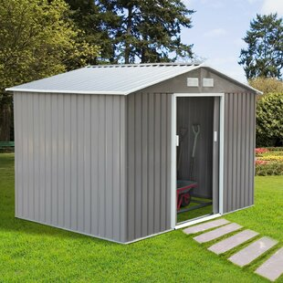 6 Ft. W X 9 Ft. D Apex Metal Shed By WFX Utility