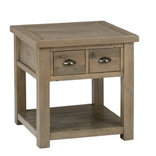 Alline Wooden End Table