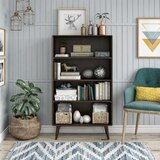 Brittany 4 Shelf Standard Bookcase by Novogratz