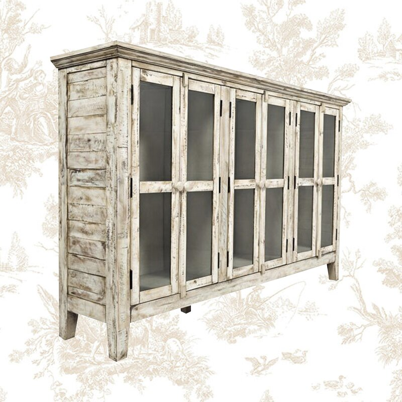 """Eau Claire 70"""" Wide Acacia Wood Sideboard from Kelly Clarkson collection at Wayfair. #rusticcabinet #furniture #rusticdecor #kellyclarkson #sideboards"""