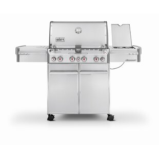 Summit S-470 4-Burner Natural Gas Grill with Smoker by Weber