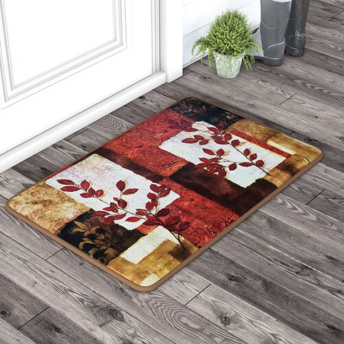 Quinto Spice Leaves Oversized Anti Fatigue Kitchen Mat