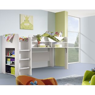 Filipo European Single High Sleeper Loft Bed With Bookcase By Rauch