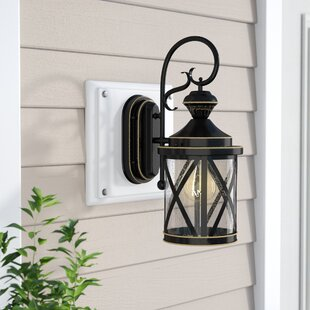 Langport 1-Light Black Outdoor Wall Lantern