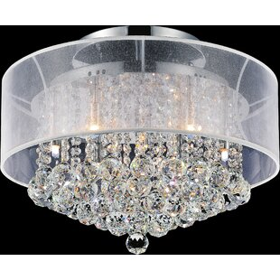 9-Light Semi Flush Mount by CW..