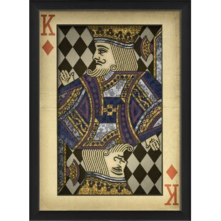 King of Diamonds Harlequin Playing Card Framed Graphic Art by The Artwork Factory
