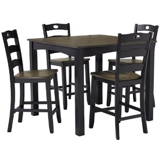 Serena 5 Piece Counter Height Dining Set by Rosalind Wheeler