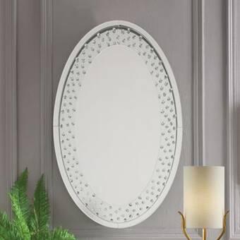 Red Barrel Studio Malott Elegant Bejeweled Oval Accent Wall Mirror Wayfair