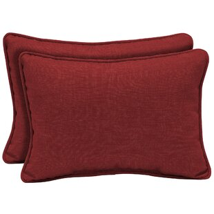 Kitterman Tropical Reversible Outdoor Lumbar Pillow (Set of 2)