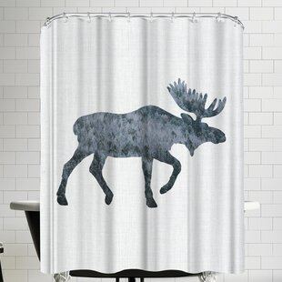 Annie Bailey Moose Shower Curtain