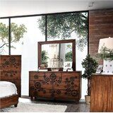 Sergei 7 Drawer Double Dresser with Mirror by Bungalow Rose