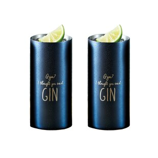 Barcraft 500ml Stainless Steel Highball Glass (Set Of 2) By KitchenCraft