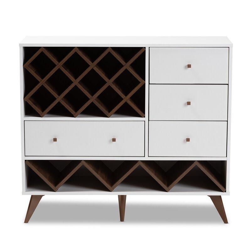 Turn on the Brights  Crescio Bar with Wine Storage Color: White