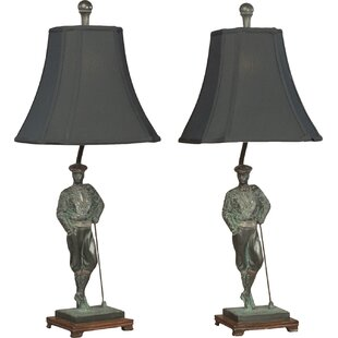 Beautiful Golfer Leaning Table Lamp (Set Of 2)