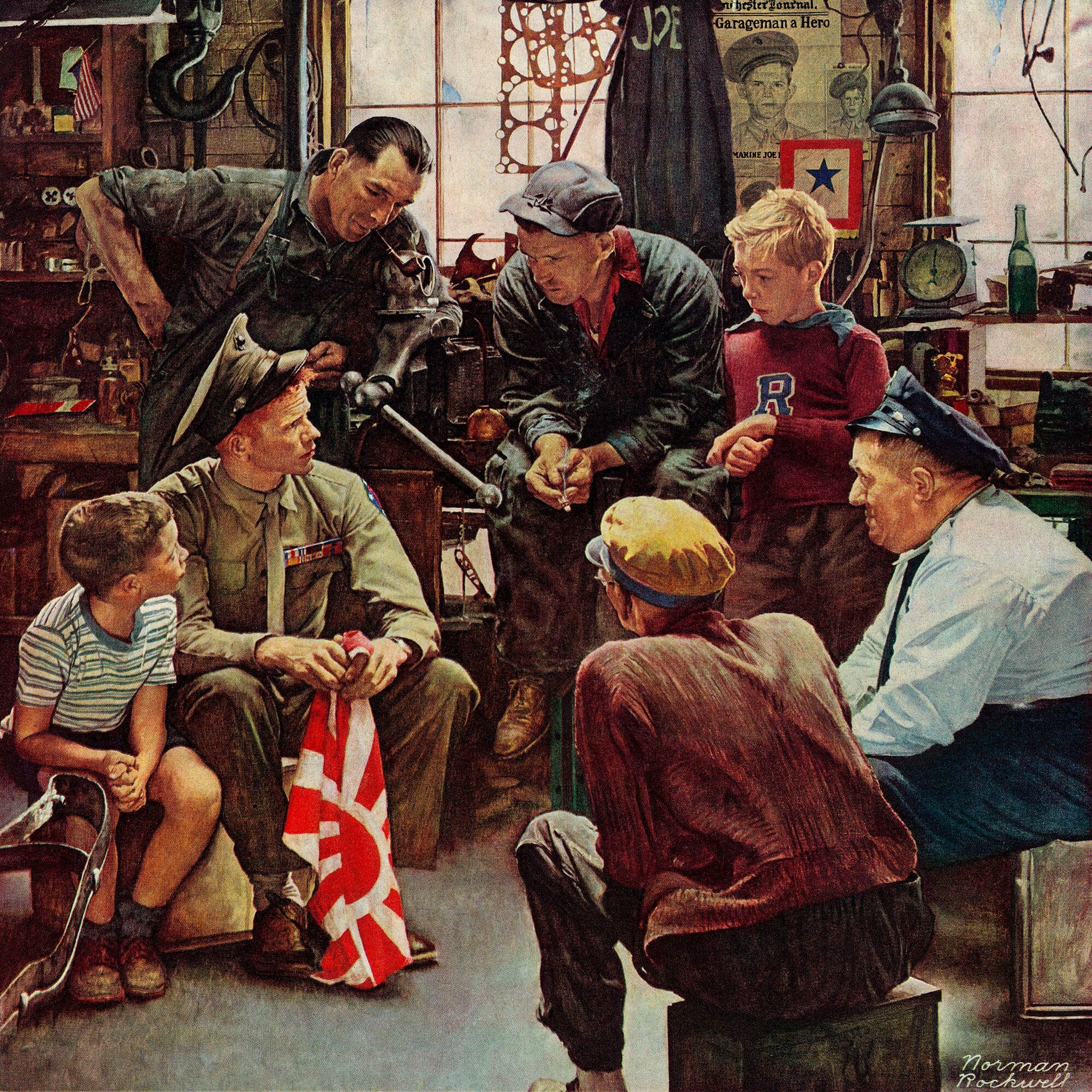 Vault W Artwork 'Homecoming Marine' by Norman Rockwell Painting Print on  Wrapped Canvas | Wayfair