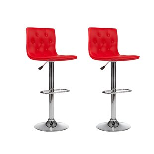 Adjustable Height Swivel Bar Stool (Set of 2) by Winport Industries