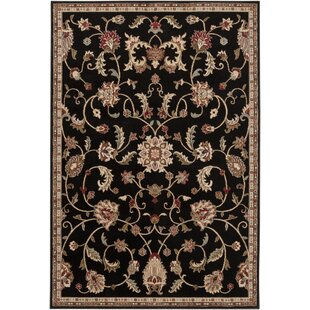 Gaskins Beige/Black Area Rug By Charlton Home