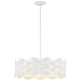 Coastal Current 1-Light LED Drum Pendant by George Kovacs by Minka