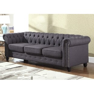Bowley Nailhead Living Room Chesterfield Sofa