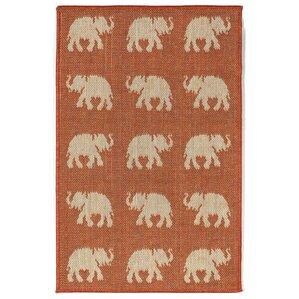 Slimane Elephants Indoor/Outdoor Rug