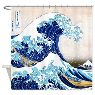 Shop For The Great Wave Shower Curtain BySweet Home Collection
