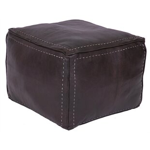 Lidiya Leather Pouf