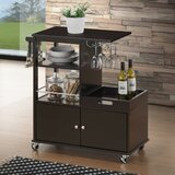 Sondrio Kitchen Cart Solid Wood by Ebern Designs