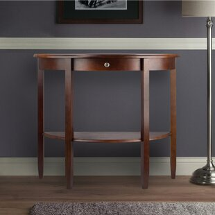 Bargain Walnut Half Moon Console Table By Winsome