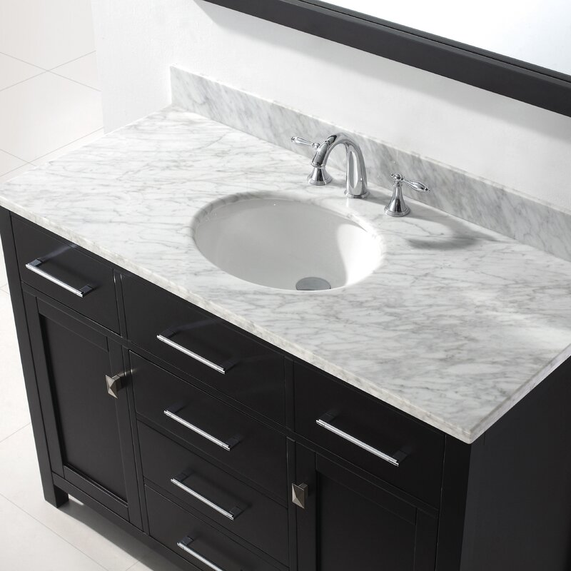 templeton 48 single bathroom vanity set with mirror